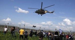 İdomeni'de Polis ile sığınmacılar arasında gerginlik
