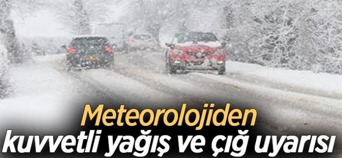 Meteorolojiden kuvvetli yağış ve çığ tehlikesi uyarısı