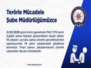 Ankara'da PKK operasyonunda 14 kişi gözaltına alındı