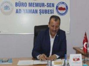 Büro Memur-Sen Adıyaman Şube Başkanı: Corona Genelgesi kurumlarda İvedilikle uygulanmalı