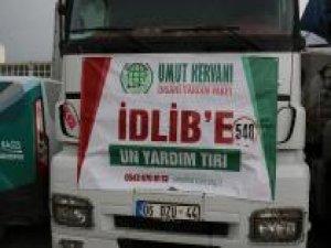 Umut Kervanı İdlib'de bin 160 aileye her gün ekmek yardımında bulunacak