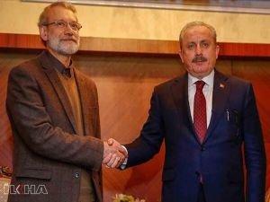 TBMM Başkanı Şentop'tan İran Meclis Başkanı Laricani'ye geçmiş olsun telefonu