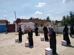 Barış Pınarı Bölgesinde Ramazan yardımı yapılıyor