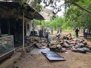 Piknik alanındaki tesiste yangın çıktı