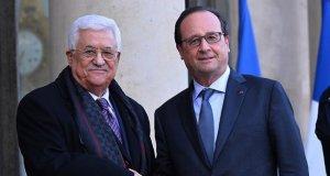 Fransa Cumhurbaşkanı, Mahmut Abbas ile görüştü