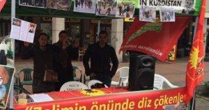 PKK'lılar Dortmund'ta  çadır kurdu