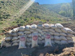 Van'da PKK operasyonunda 3 ton suni gübre ele geçirildi
