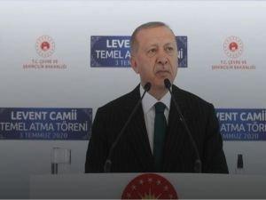 """Erdoğan: """"Kimsenin bizim ibadethanelerimize karışmaya hak ve salahiyeti yoktur"""""""