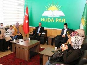 Genç evlilik mağdurlarından HÜDA PAR Genel Merkezine ziyaret