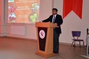 """Bitlis'te """"Organik Tarım"""" konulu seminer düzenlendi"""