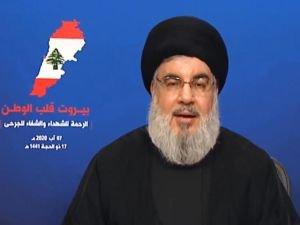 Hizbullah Genel Sekreteri Nasrallah Beyrut'taki patlamaya ilişkin konuştu