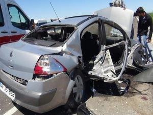 Yol çalışması kazaya sebep oldu : 5 yaralı