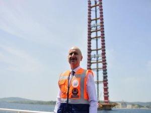 Çanakkale Köprüsü'nün yapımı sürüyor