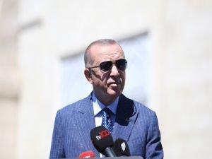"""Erdoğan: """"Filistin'e yönelik atılan adım yenilir, yutulur bir adım değil"""""""
