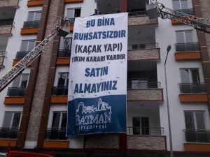 Batman Belediyesinden 'kaçak yapı' açıklaması