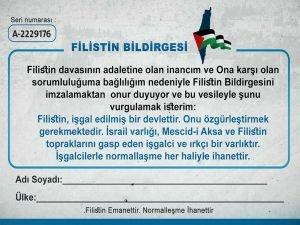 Siyonist işgal rejimi ile sözde normalleşme anlaşmasını reddetme kampanyası başlatıldı