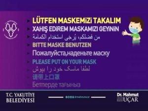 """Erzurum'da 9 dilde yapılan """"maske"""" uyarısında Kürdçe'ye yer verilmedi"""