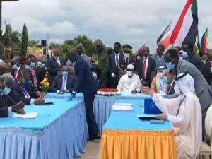Sudan hükümeti ile silahlı gruplar arasında barış anlaşması imzalandı
