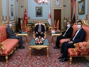 HÜDA PAR Genel Başkanı Sağlam Meclis Başkanı Şentop'u ziyaret etti