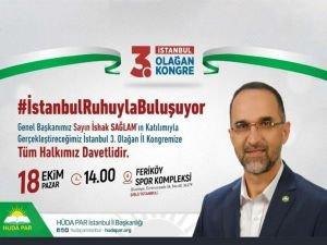 HÜDA PAR İstanbul 3'üncü Olağan Kongresi halka açık yapılacak