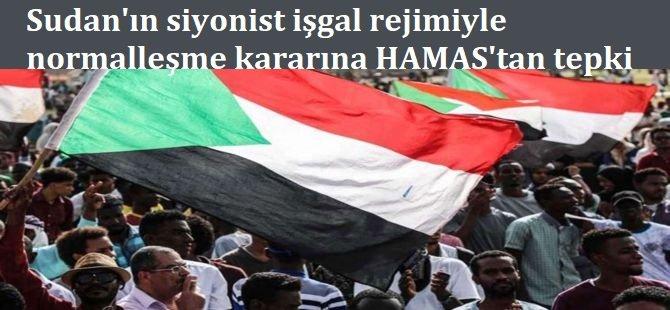 Sudan'ın siyonist işgal rejimiyle ilişkileri normalleştirme kararına HAMAS'tan tepki