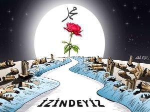 """Gaziantep halkından """"Hazreti Muhammed en güzel örnektir"""" mesajı"""