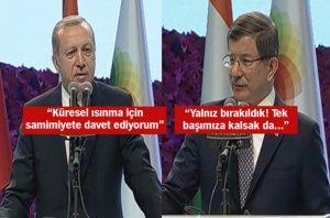 Erdoğan ve Davutoğlu'ndan önemli mesajlar