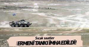 Ermenistan ordusuna ait tank imha edildi