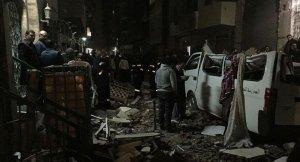 Güvenlik güçlerinin baskın yaptığı binada patlama