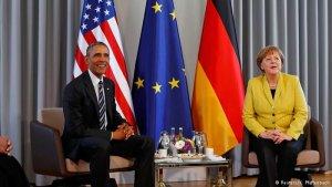 Merkel İle bir araya gelen Obama Almanya'ya veda ziyareti