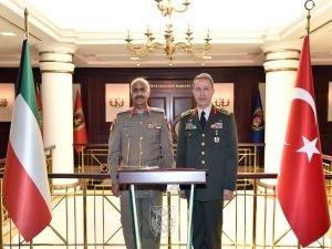 Kuveyt Genelkurmay Başkanı Ankara'da