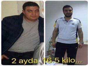 2 Ayda 16,5 KG verdi