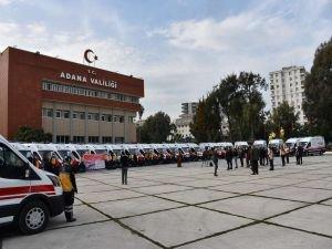 Adana'ya gönderilen 26 ambulans hizmete alındı
