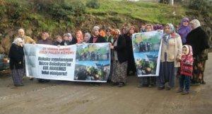 Düzce Melen Köylülerinin çöp nöbeti