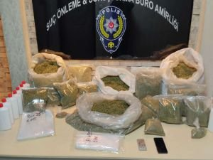 Gaziantep'te 25 kilo sentetik uyuşturucu ele geçirildi