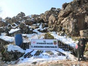Diyarbakır'da çok sayıda mühimmat ele geçirildi