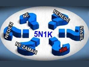 5N1K nedir? 5N1K tekniğinin anlamı ve açılımı nedir?