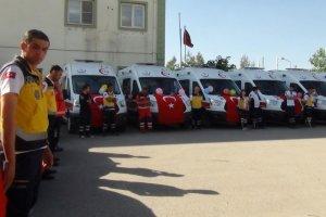 Gaziantep sağlık Müdürlüğüne 10 yeni ambulans desteği