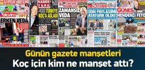 Günün Gazete Manşetleri için tıklayın
