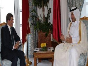 Başbakan Davutoğlu, Katar Başbakanı El Sani ile görüştü
