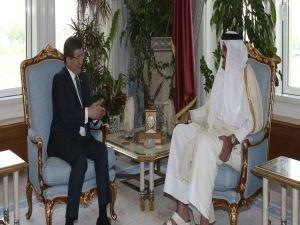 Başbakan Davutoğlu, Katar Emiri ile görüştü