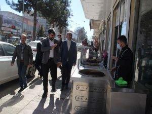 HÜDA PAR Diyarbakır İl Başkanı Dinç, Bismil esnafını ziyaret etti