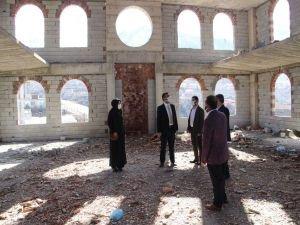 Batman İl Müftüsü Erhan'dan camii inşaatlarında inceleme