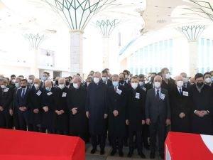 Cumhurbaşkanı Erdoğan, helikopter kazasında vefat eden askerlerin cenaze törenine katıldı