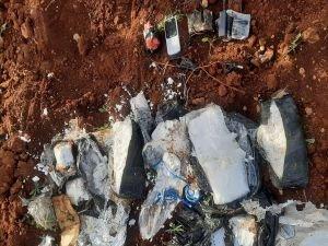 Azez'de yol kenarına tuzaklanan patlayıcı ele geçirildi