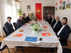 HÜDA PAR Genel Başkanı Sağlam'dan HAK-PAR Genel Başkanı Epözdemir'e ziyaret
