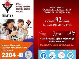 Cizreli öğrenciler TÜBİTAK'a 92 proje ile başvurdu