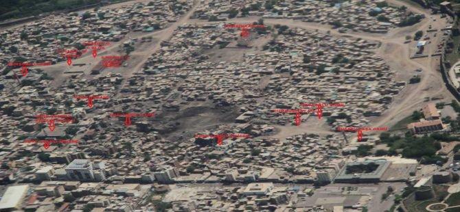 Sur'daki yıkımın havadan hali!