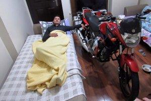 Motosiklet sürücüsü canından oldu
