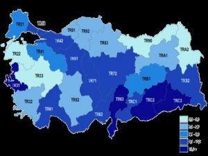 En yüksek işsizlik oranı TRC3 bölgesinin